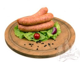Sausages with ham