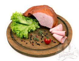 Smoked pork pastrami
